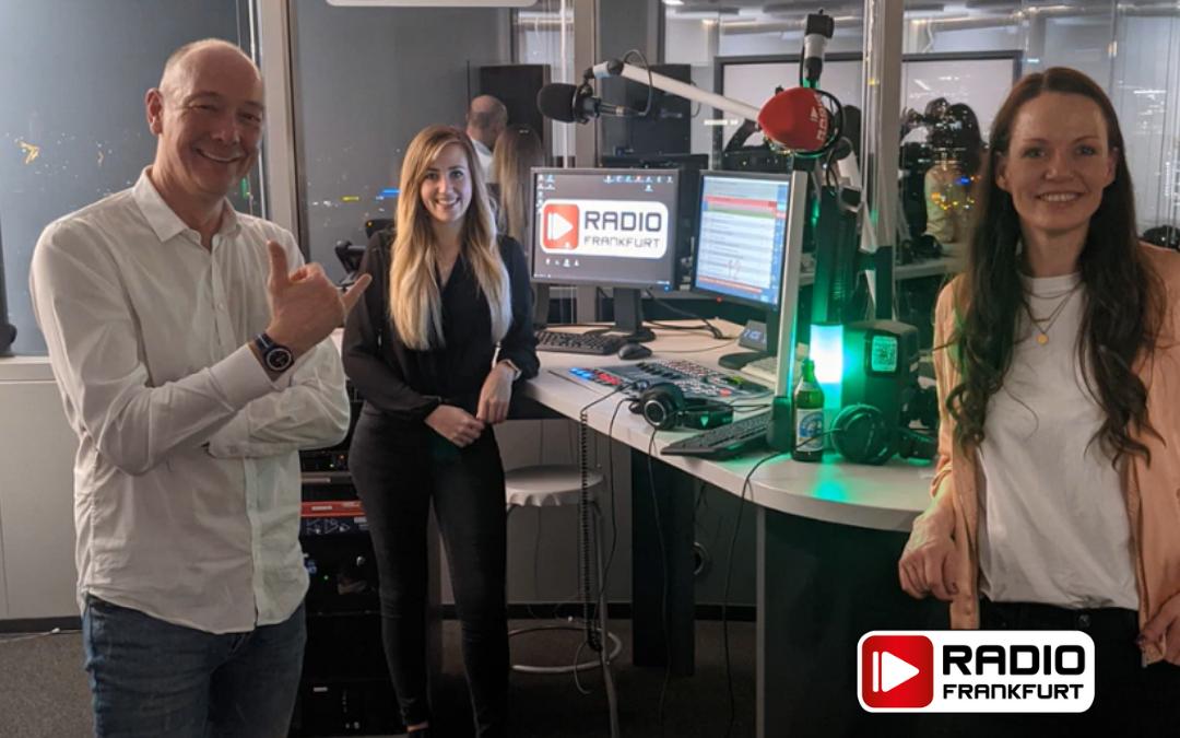 Ralf und Nadine im Radio Frankfurt Studio